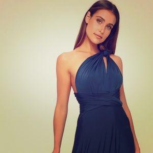 Convertible Navy Blue Maxy Dress